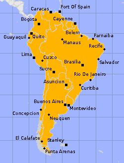 Länder in Südamerika