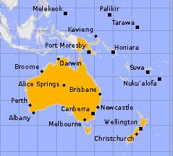 Australien und Länder in Ozeanien