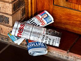 Abonnierte Zeitschriften und Zeitungen vorläufig abbestellen