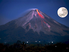 Vulkanausbruch - Gefahr durch heiße Lavaströme