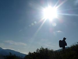 Sonnencreme mit mindestens Lichtschutzfaktor 30 benutzen