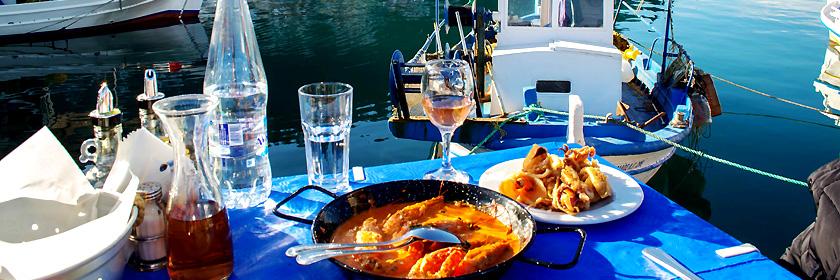 Fisch- und Fleischgerichte Griechenlands