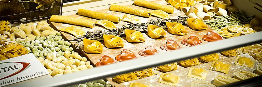 Pasta- und Reisgerichte Italiens